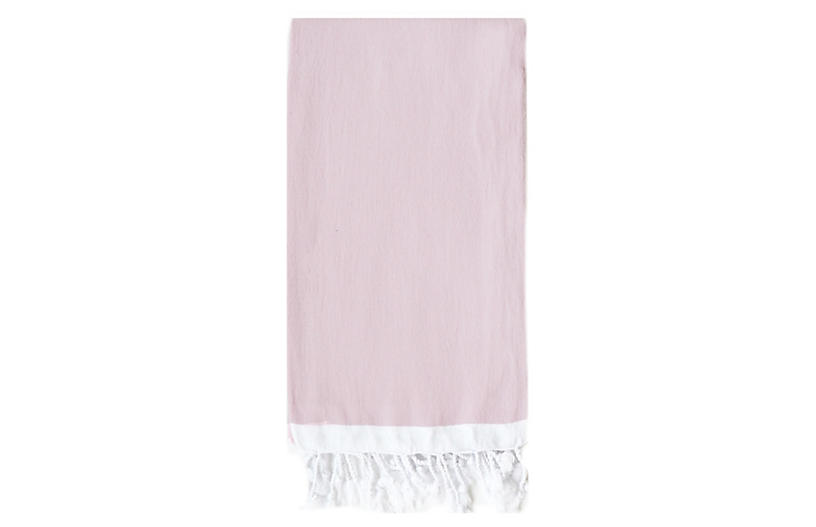 Basic Single-Stripe Towel, Light Pink