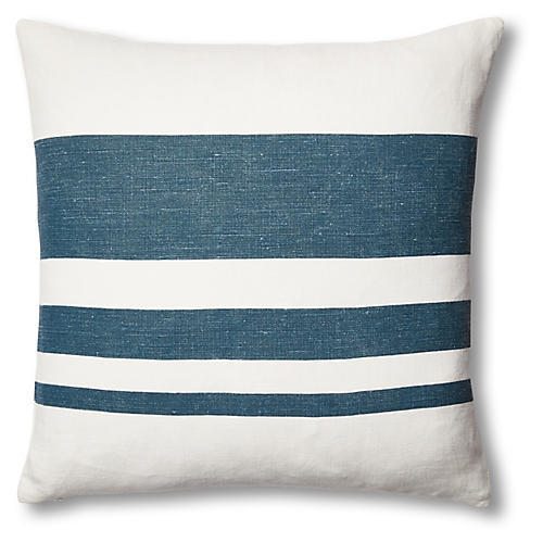 Sunset Linen Pillow, Blue