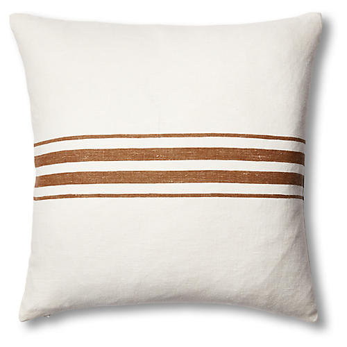 Frenchie Linen Pillow, Bark
