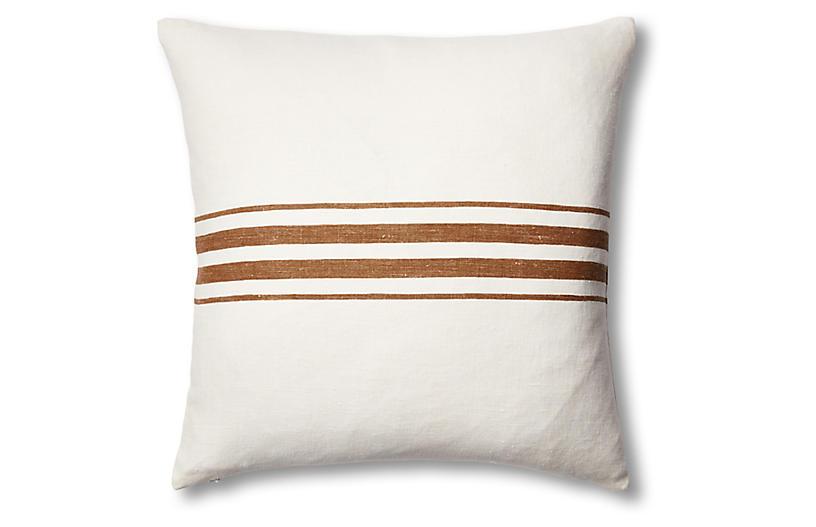 Frenchie Linen Pillow, Bark
