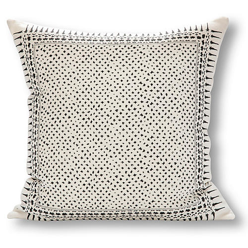 Gracie 22x22 Linen Pillow, Charcoal