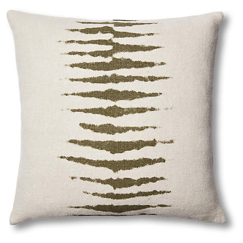 Wild One 22x22 Linen Pillow, Kale