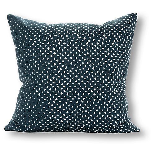 Smith 20x20 Outdoor Pillow, Navy/White