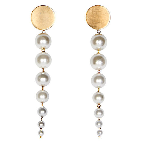 Lucy Earrings, White