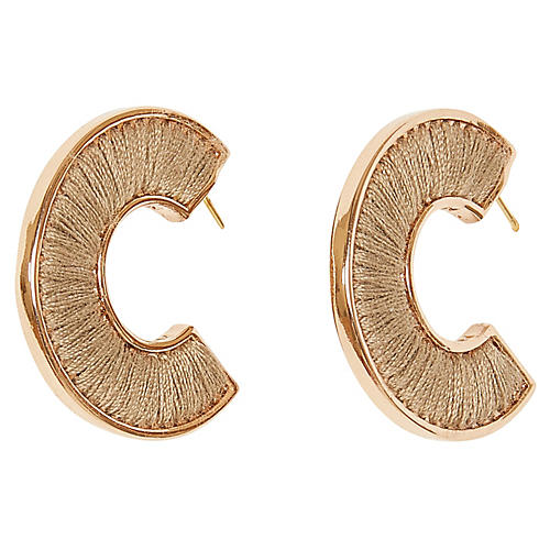 Fiona Mini Hoop Earrings, Rosegold