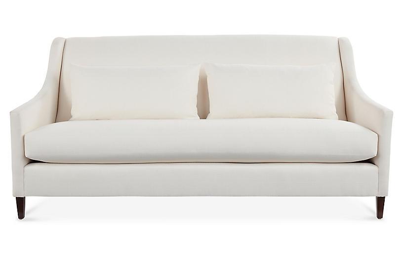 Dawes Sofa, Ivory Crypton