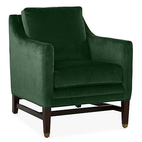 Arden Club Chair, Emerald Velvet