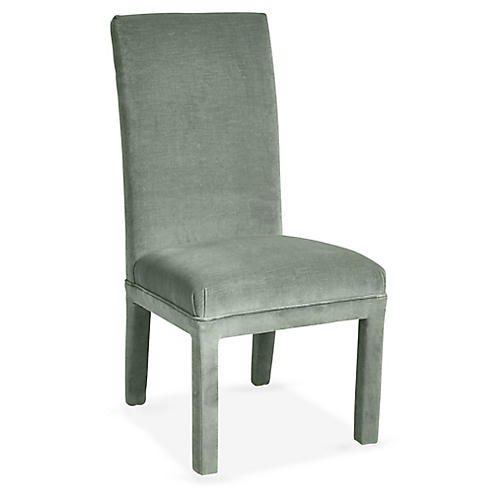 Monroe Side Chair, Sage Velvet