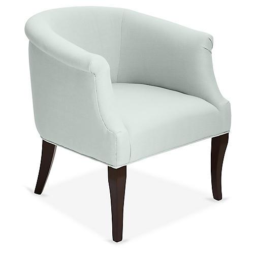 Selby Club Chair, Seafoam Linen