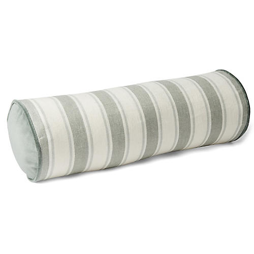 Hove 7x20 Bolster Pillow, Sage/White