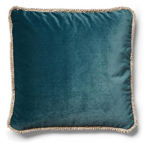 Bali Pillow, Teal Velvet