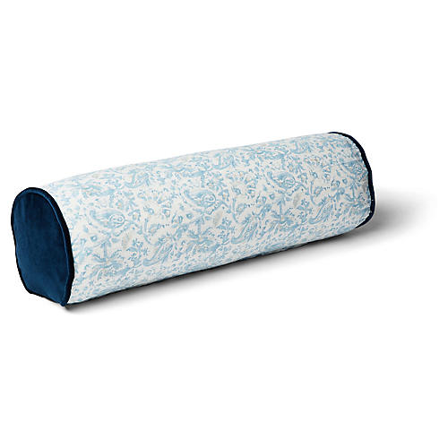 Indo 7x20 Bolster Pillow, Blue/Indigo