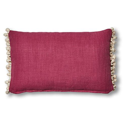 Rima 12x20 Lumbar Pillow, Hibiscus