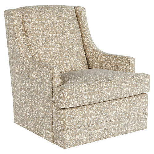 Berkley Swivel Club Chair, Latte