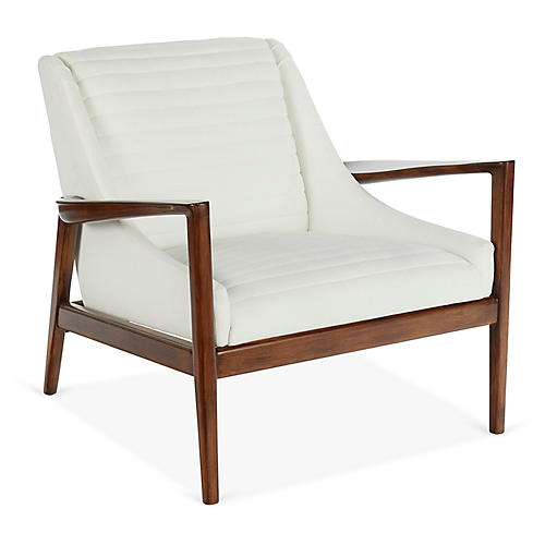 George Accent Chair, White