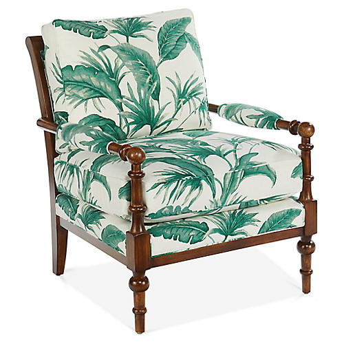 Lily Accent Chair, Palm Green Linen
