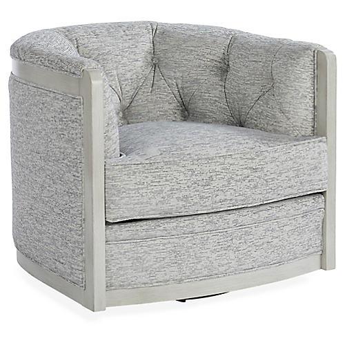 Everett Swivel Chair, Cloud