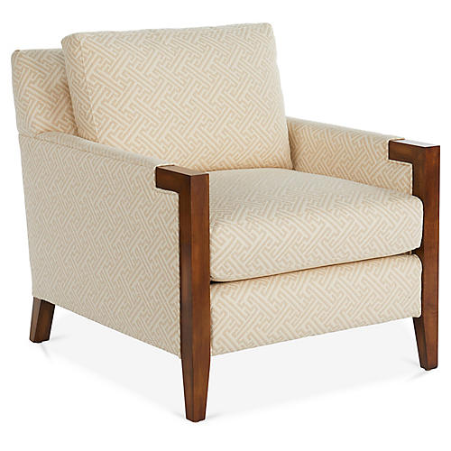 Chloe Club Chair, Natural