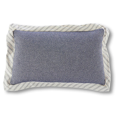 Turin 12x20 Lumbar Pillow, Marine Blue