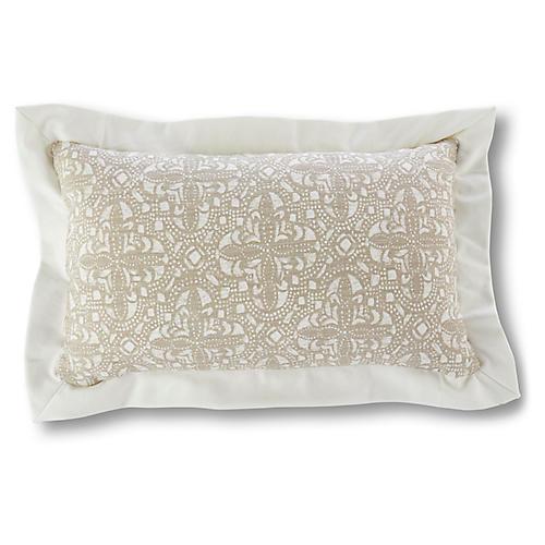 Vail 12x20 Lumbar Pillow, Latte/Ivory