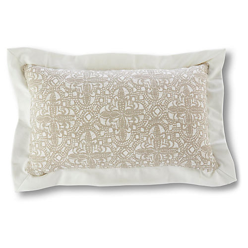 Vail 12x20 Lumbar Pillow, Latte/Ivory