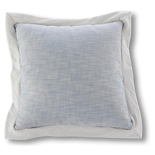 Rigby Storm 20x20 Pillow, Blue/Gray