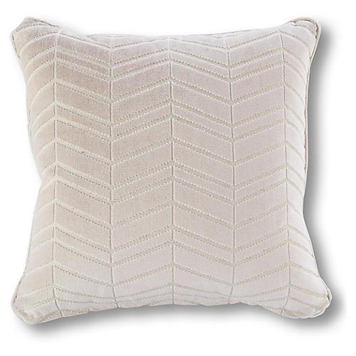 Petal 20x20 Chevron Pillow, Pale Pink