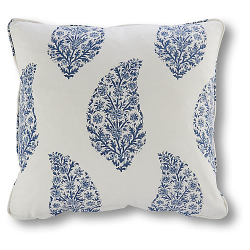 Helena 20x20 Pillow, Washed Blue