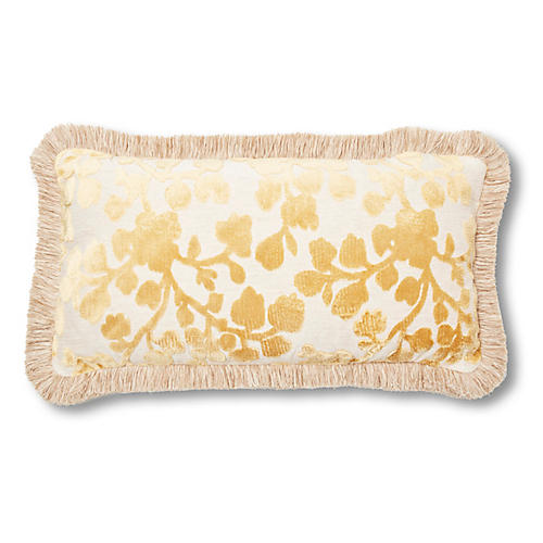 Mildred 12x23 Lumbar Pillow, Citrine