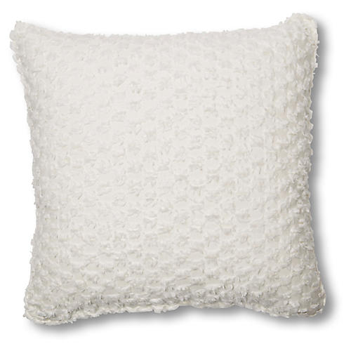 Eve 20x20 Pillow, White
