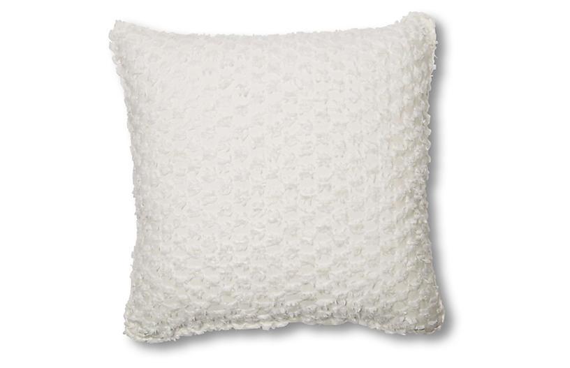 Eve 20x20 Pillow, White