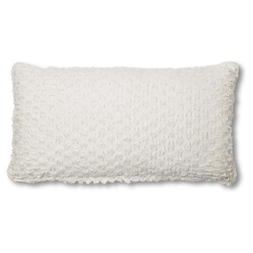 Eve 12x23 Lumbar Pillow, White