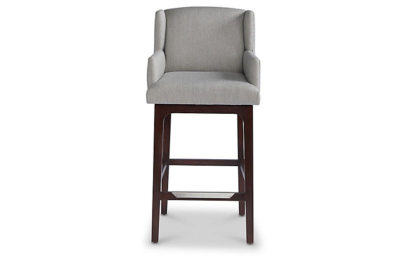 Izzy Counter Stool, Stone Sunbrella