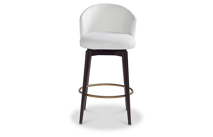 Luna Counter Stool, Snow Crypton