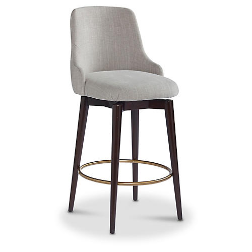 Zoe Counter Stool, Stone Crypton