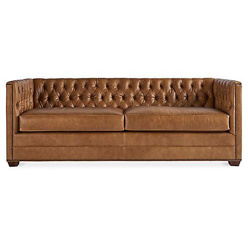 Ames Sofa, Café Crypton Leather