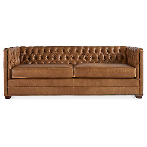 Surprising Leather Sofa One Kings Lane Alphanode Cool Chair Designs And Ideas Alphanodeonline