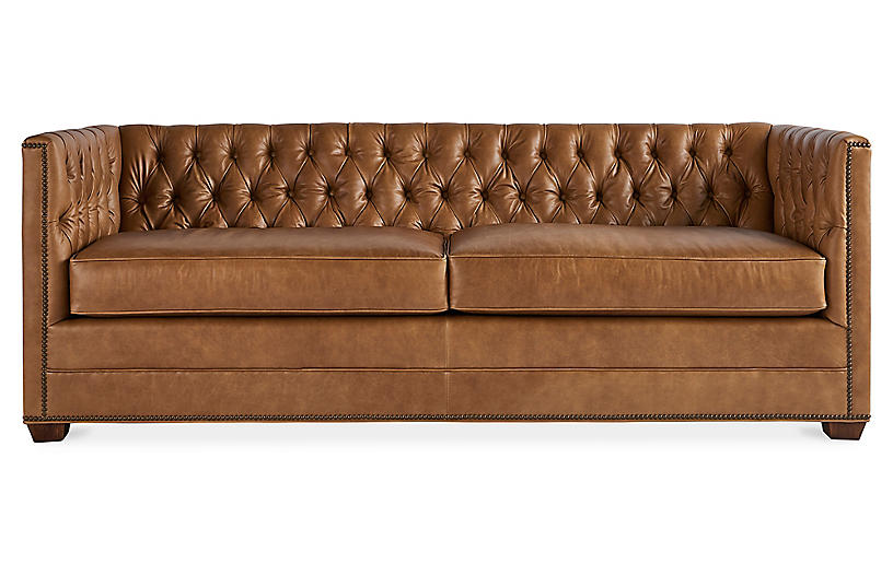 Ames Sofa, Café Crypton Leather