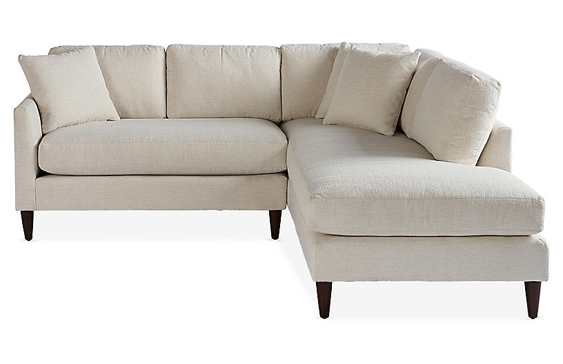 Ashbury Right-Facing Sectional, Pearl