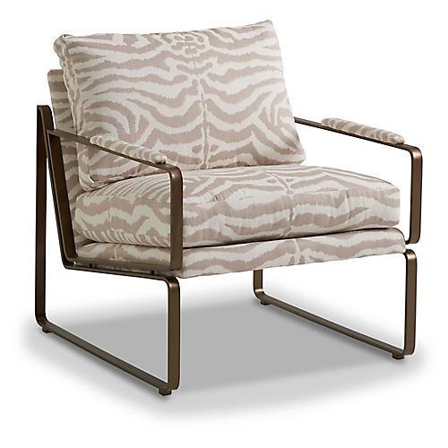 Henry Chair, Flax Zebra Sunbrella