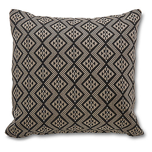 Chastain 19.5x19.5 Pillow, Ebony Sunbrella