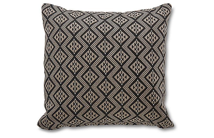Chastain 19.5x19.5 Pillow, Ebony Sunbrella