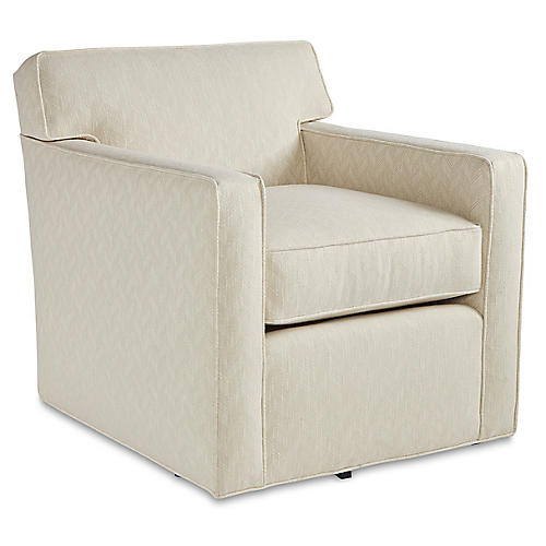 Kelton Swivel Chair, Parchment Crypton