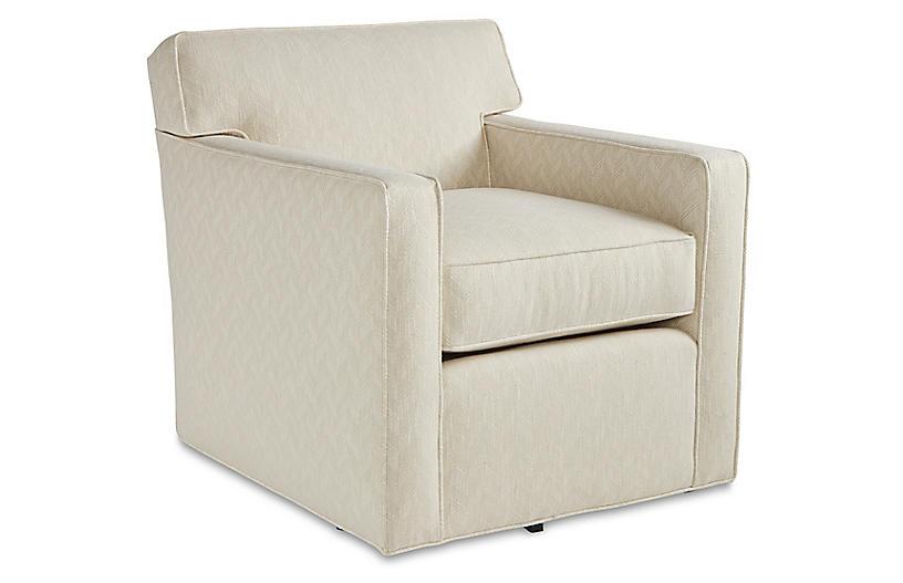Kelton Swivel Chair, Parchment Crypton