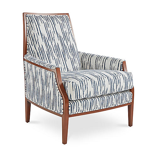 Bergen Accent Chair, Glacier Blue