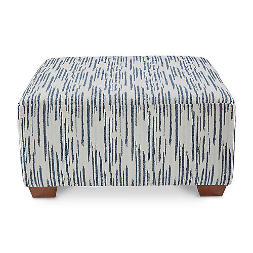 Gable Cocktail Ottoman, Glacier Blue