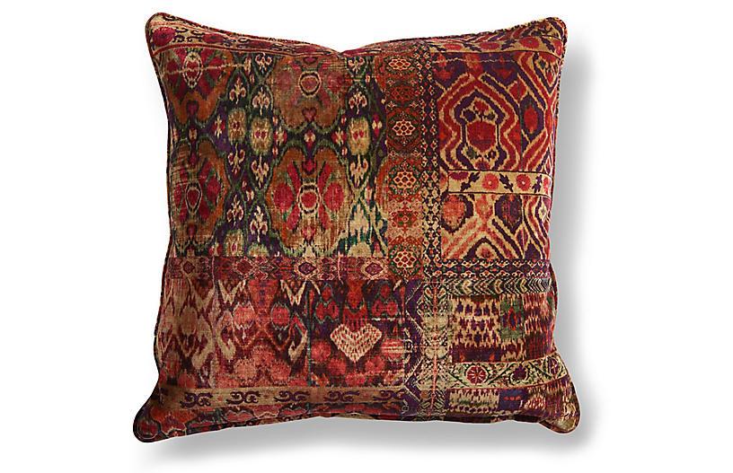 Rio 20x20 Pillow, Red/Multi