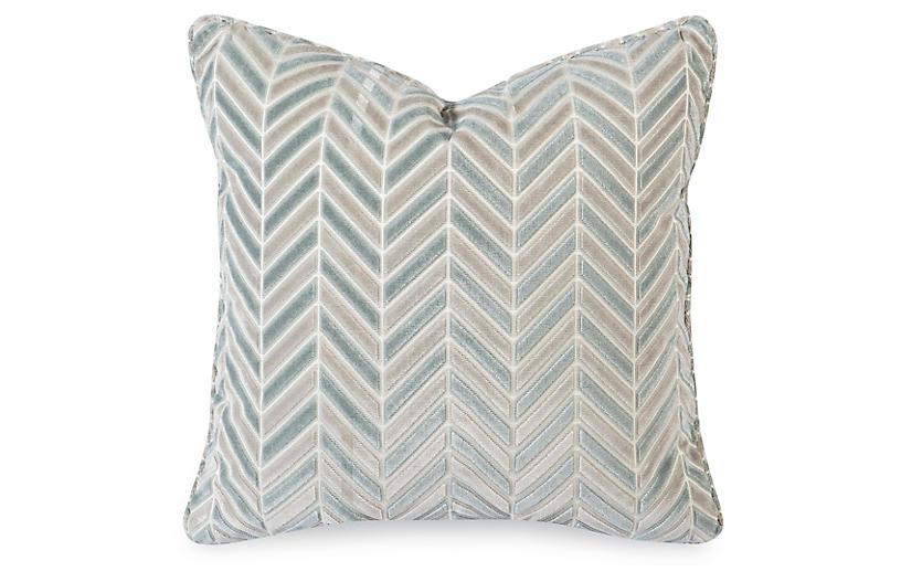 Aida 20x20 Pillow, Mineral Velvet