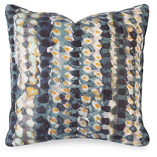 Mavis 20x20 Pillow, Indigo Linen