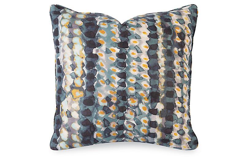 Mavis 20x20 Pillow Indigo Linen